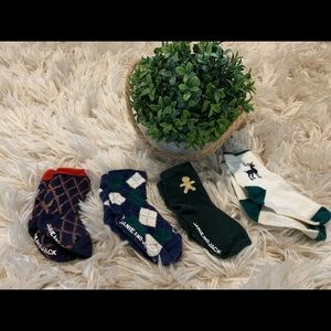 Janie and Jack Set of 4 Boy Socks Holiday Special